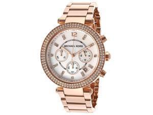 Michael Kors Parker Chronograph Rose Gold-tone Ladies Watch MK5491