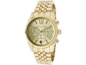 Michael Kors Lexington Chronograph Gold PVD Ladies Watch MK5556
