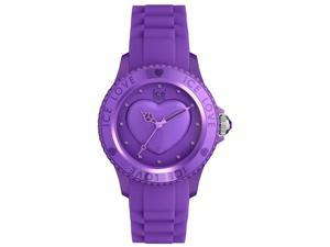 Ice-Watch Ice-Love LO.LR.S.S.11 Women's Silicone Watch with Heart Dial - Purple