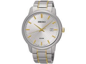 SEIKO SUR197P1,Men's Date,Stainless Steel Case & Bracelet,Hardlex Crystal,100m WR,SUR197