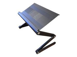 "Simplistex® - Adjustable Folding Laptop or Notebook Desk / Stand / Cart - Vented or Fan cooled (17"" Vented - Black)"