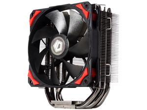 ID-COOLING SE-204K Black Nickel Plating Cooler with 4*8mm Heatpipe& 120mm Black/Red PWM Fan with Noise Absorption & Copper Base, Intel LGA2011/1366/115X/775 & AMD All Sockets