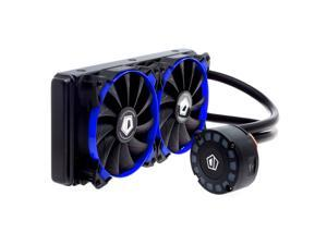 ID-COOLING FROSTFLOW 240L AIO Water Cooler with Unique Comet-tail LED Lighting, 240mm Radiator, Two 120mm High Static Pressure PWM Fans, Copper Base & Aluminum Heatsink, Intel & AMD