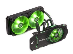 ID-COOLING ICEKIMO 240VGA Integrated AIO Water Cooler GTX1080/1070/1060 VGA Card, 240mm Radiator,2*120mm Green LED Fans, Copper Base & Aluminum Heatsink, Quiet 90mm Fan over GPU Board, Nvidia & ATI