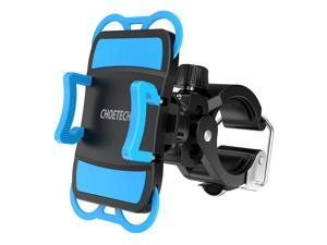 CHOETECH Bike Phone Mount Holder for Smartphone GPS & other Devices With Rubber Strap and  360 Degree Rotation Function