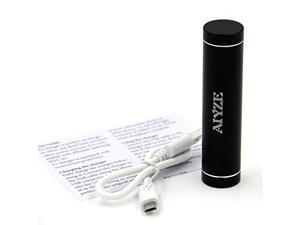 """Aiyze Mini Power Bank 3000mah Portable Battery Charger Usb External Battery Pack """"Lipstick""""cylinder Shape Luxury For iPhone, Galaxy S5, S4, Note 3, Nexus 4, HTC One, One 2 (M8), most other Smartphones"""