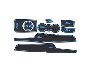 8 Pcs/Set Car Indoor Mats Compatible For Ford Fiesta 2013 2014 New Latex Interior Gate Slot Pad Anti Non Slip Mat 2 Colors