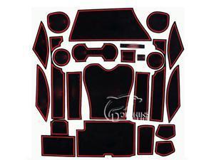 24 Pcs/Set Auto Indoor Gate Slot Mat Car Water Cup Anti Dust Slip Resistance Pad Compatible For Lexus RX270 Interior Cover Accessories 2 Colors