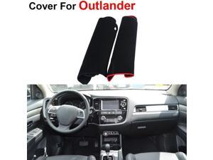 Car Interior Dash Cover Dashboard Protective Mat Shade Cushion Dust-proof Pad Carpet Compatible For Mitsubishi Outlander Third Generation 2014 2015 Red Line/Black Style