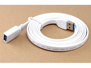 Universal USB 3.0 extension cable (white flat) Length 3.28FT, A-Male to A-Female