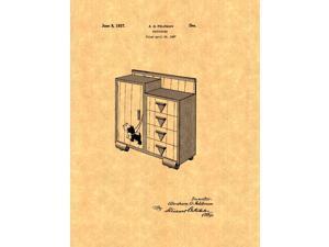 Design For A Chifforobe Patent Art Print