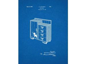 Design For A Chifforobe Patent Art Blueprint