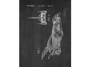 Batman Vehicle Patent Art Chalkboard