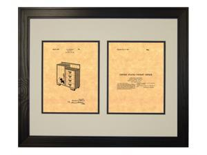 Design For A Chifforobe Patent Art Print in a Solid Pine Wood Frame