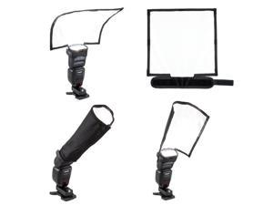 Fomito Foldable Speedlight Reflector Snoot Sealed Flash Softbox Diffuser