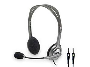 New  Logitech H110 Stereo Noise Cancelling Headset 3.5mm