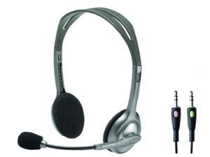 Logitech H110 3.5 mm Stereo Headset noise cancelling Mic Chat Gaming for PC MAC
