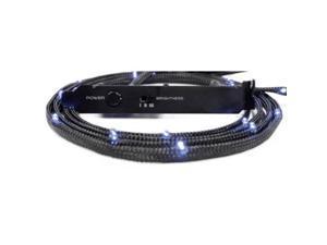 NZXT 1M White Sleeved LED Kit, 3-Step Light Sensitivity, Model: CB-LED10-WT