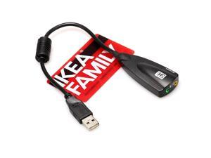 Stereo Headset 3.5mm Mic Jack USB 2.0 Laptop External Sound Audio card Adapter