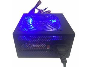 NEW Blue LED 750w ATX12V Silent 120mm Fan Computer Gaming PC Power Supply PSU