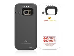 ZeroLemon Samsung Galaxy S7 ZeroShock 7500mAh Rugged Extended Battery Case with Soft TPU Full Edge Protection-Black Y1034