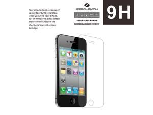 iPhone 4/ 4s Screen Protector,ZeroLemon 9H Premium Tempered Glass Screen Protector for iPhone 4/ 4s (Fits All Versions of iPhone 4/ 4s)[Lifetime Replacement Warranty]