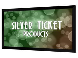 "STR-169100 Silver Ticket 100"" Diagonal 16:9 HDTV (6 Piece Fixed Frame) Projector Screen White Material"