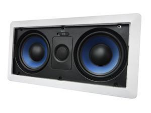 """5252W Silver Ticket Dual 5.25"""" 80-Watt Center-Channel In-Wall Speaker with Pivoting Tweeter (1 Speaker, White)"""