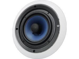 "652C Silver Ticket 6.5"" 80-Watt 2-Way In-Ceiling Speaker with Pivoting Tweeter (1 Speaker, White)"