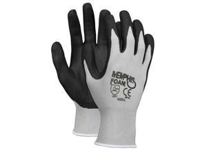 Economy Foam Nitrile Gloves Large Gray/Black 12 Pairs