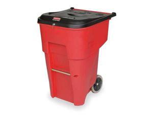 """32-1/3"""" Trash Can, Rubbermaid, FG9W1900RED"""