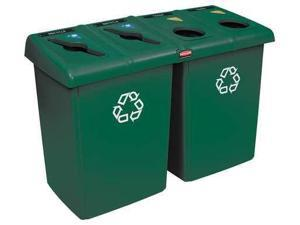 """53"""" Recycling Station, Dark Green ,Rubbermaid, 1792373"""