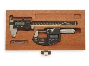 MITUTOYO 64PKA077B Precision Measuring Kit, Digital, Friction
