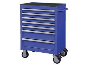 "Westward 26-11/16"" Rolling Cabinet, 7 Drawers, Blue, 32H890"