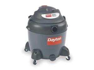 DAYTON 3VE22 Wet/Dry Vacuum, 6.5 HP, 18 gal., 120V