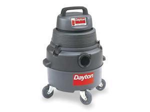 DAYTON 4YE66 Wet/Dry Vacuum, 2 HP, 6 gal., 120V