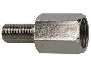 VITA NEEDLE CO. G502 Lube Adapter, Plated Brass, Silver, NPT