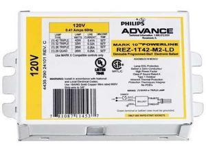 PHILIPS ADVANCE REZ1T42M2LDK CFL Ballast,Electronic Dimming,8W,120V