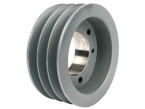 "TB WOOD'S 3V303 V-Belt Pulley, Detachable, 3Groove, 3""OD"