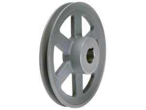 "TB WOOD'S AK4634 V-Belt Pulley, 3/4""Fixed, 4.45""OD, CastIron"
