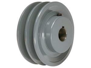 "TB WOOD'S 2BK45138 V-Belt Pulley, 1-3/8""Fixed, 4.25""OD, Iron"