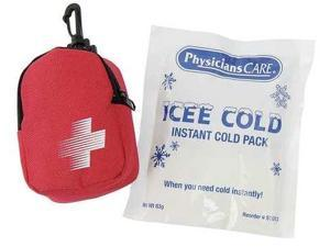 PHYSICIANSCARE 3028 Cold Pack, Red Nylon Case, 3-3/4 x 2-3/4In