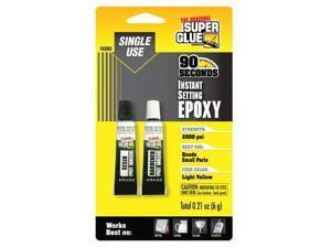 SUPER GLUE 15353-12 Epoxy, Instant Setting, (2)-3gTubes