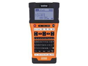BROTHER PT E500 Handheld Label Maker, Orange, LCD