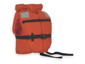STEARNS I120ORG-00-000 Flotation Vest, Orange, Nylon, Universal