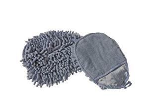 UNGER MMIRG Dust and Wash Mitt, Gray, 7 In. L, 5 In. W