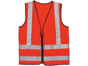OCCUNOMIX LUX-SSFS-OS High Visibility Vest, Class 2, S, Orange