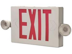 Exit Sign with Emergency Lights, Cooper Lighting, APCH7R