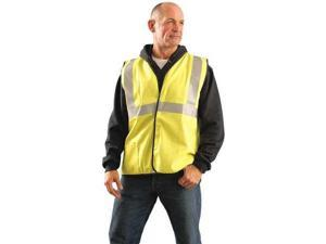 OCCUNOMIX LUX-SSCGFR-YL High Visibility Vest, Class 2, L, Yellow