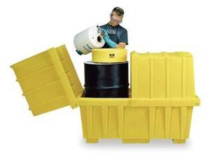 EAGLE 1626 Covered Drum Spill Containment, 46 in. H